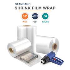 31 Polyolefin Shrink Film Heat Shrink Film Wrap 60 Gauge 4375 Ft 1 Roll