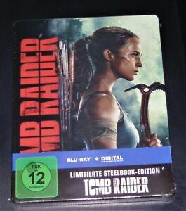 TOMB RAIDER (2018) LIMITIERTE STEELBOOK EDITION BLU RAY NEU & OVP