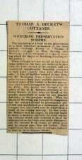 1927 Worthing Preservation Scheme Concerning Thomas A Becket's Cottages