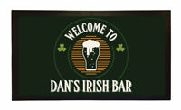 PERSONALISED BAR MAT CUSTOM RUNNER GIFT NOVELTY FUNNY BEER PUB IRISH