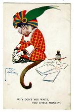 1926 Lawson Wood Comic Postcard - Why Don't you Write You Little Monkey