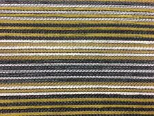 DESIGNER STRIPE CHARTREUSE GREEN GREY UPHOLSTERY CURTAIN FABRIC MATERIAL SALE!