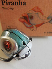 PIRANHA FISH HEAD TIN WIND UP CLOCKWORK MODEL FUN TUMBLER