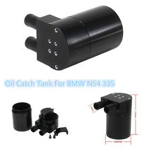 Car Racing Black Metal Reservior Oil Catch Can Tank For BMW N54 335 535i 535xi