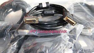 DVI Kabel 3m auf DVI Stecker Monitorkabel Anschlusskabel Digital Ferrit Premium