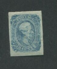 1864 Confederate States Civil War Postage Stamp #12 Mint No Gum VF