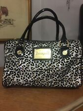 Betseyville Betsey Johnson Glitter Sparkle Leopard Print Doctors's Bag Purse