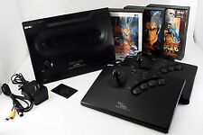 Neo Geo AES ROM Console System + 3 GAMES, 2 Fight Sticks [Exc+] From japan