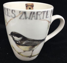 Coffee Mug Cup Zwarte Mees Bird Branch Jet Ter Steege Ryseen Netherlands White