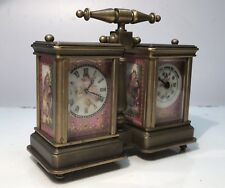 Very Pretty Porcelain Panelled Carriage Clock & Barometer. Open To Offers.