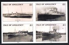 GB Locals Cinderella Isle of Anglesey Ships IMPERF Block 4 Holyhead to Dublin