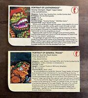 Leatherhead & General Traag Vintage TMNT Ninja Turtles Figure File Bio Card Lot