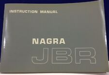 SWISS ORIGINAL NAGRA KUDELSKI JBR  INSTRUCTION MANUAL