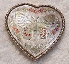 Belt Buckle Women'S Heart Butterfly All Metal Gold Tone And Silver Tone Flowe Jr