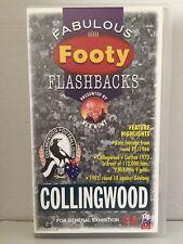 FABULOUS FOOTY FLASHBACKS ~ COLLINGWOOD ~ RARE VHS VIDEO ~ AS NEW