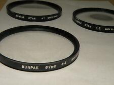 67mm Sunpak Close Up Lens Kit +1, +2, +4