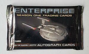 Star Trek Enterprise Season 1 -3 Sealed Trading Card packs from sealed Hobby Box