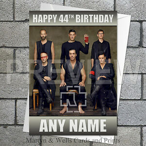 Rammstein personalised birthday card. 5x7 inches.
