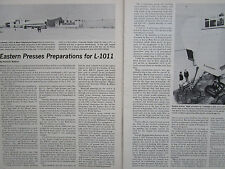 4/1972 ARTICLE 9 PAGES LOCKHEED L-1011 TRISTAR AIRLINER EASTERN AIRLINES