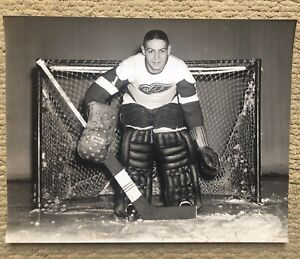 Terry Sawchuk  11x14 Detroit Red Wings Rare Photo Off  McCarty Negative