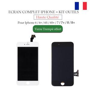 ECRAN LCD VITRE TACTILE COMPLET IPHONE6/6S/7/7PLUS/8/8PLUS NOIR BLANC