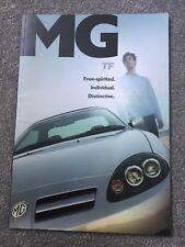 MG TF 2002-04 UK Market Sales Brochure 115 120 Stepspeed 135 160