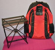 Berkshire backpack folding chair red & black hiking camping fishing cycling $70