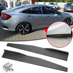 Carbon Fiber Side Skirt Rocker Winglets Splitter Diffuser For Honda Civic Accord