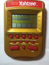 Hasbro Electronic Handheld Yahtzee Gold Dice Travel Family Game Tested 2002