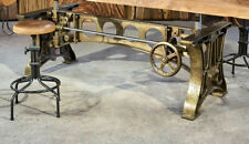Brass Plated Industrial Cast Iron Crank Table Base