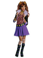 Girls Clawdeen Wolf Costume Monster High Fancy Dress Outfit Halloween Age 3 - 10