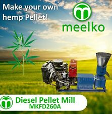 PELLET MILL 35HP DIESEL ENGINE PELLET (HEMP)