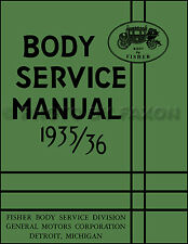 1935-1936 Cadillac V8 and LaSalle Body Repair Manual La Salle Fisher Service