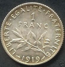 ~~ 0scar Roty: 1 Franc Semeuse 1919, SPL issue de rouleaux   ~~