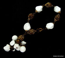 USA/50's Lucite Charm Armband sehr chic, Vintage Bracelet Old & beautiful