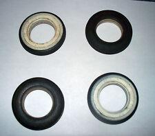 "Set of 4 VOGUE TYRE / TIRE Toy Model Car Tires w/ Whitewalls - 2.25"" Diam."