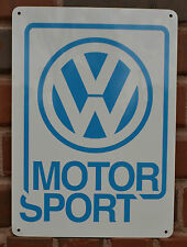 Volkswagen Motor Sport Sign VW Bus Bettle Passat Bug Parts Mechanic Shop AD 10da