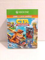 Crash Team Racing CTR Nitro Fueled Game & Socks bundle (Xbox One, 2019) - NEW