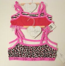 4 New JESSICA SIMPSON Pink White Red Size M 8-10 Pullover Crop Top Training Bras