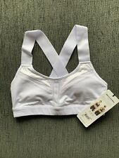 ALO YOGA White Equalize Sports Bra Size S