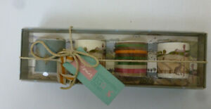 Joules Enchanting Egg Cup Set of 4 - Hare, Stripe & Tree Designs - New In Box