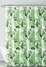 Peva Shower Curtain Liner Odorless, Pvc Free Green White Tropical Leaf Design