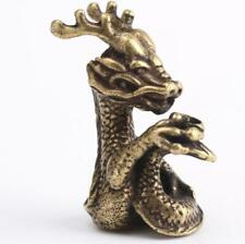 Chinese Collection old Asian Brass Zodiac dragon Exquisite hand piece statue