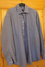 Chemise à petits carreaux bleus  Non Iron TAILLE XL Marque LORENZO CALVINO