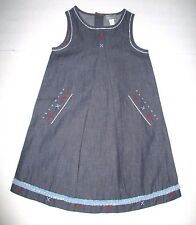 NEW NWT GIRLS BOUTIQUE ALOUETTE BLUE CHAMBRAY EMBROIDERED X BEAD DRESS SIZE 4