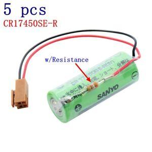 5pcs SANYO CR17450SE-R(3V) PLC Battery w/Resistance For FANUC A98L-0031-0012