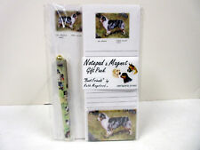 New Australian Shepherd List Pad Note Pad Magnet Pen Stationery Gift Pack Aus-2