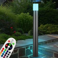 RGB LED Außen Stand Sockel Lampe Garten Grundstück Strahler ALU Leuchte DIMMBAR