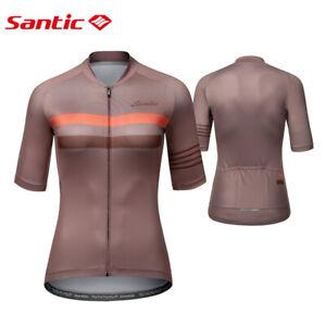 Cycling Jerseys Women Short Sleeve Bike Tops Full Zipper Road Bike Shirts S-3XL