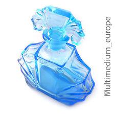 Art Deco Parfüm Flakon Karaffe dickwandiges blau es  formgeblasenes Glas